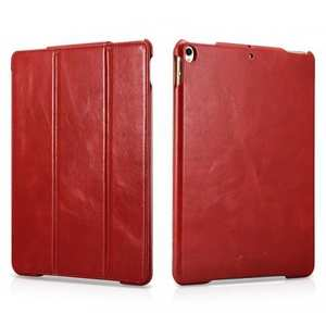 ICARER Genuine Vintage Leather Smart Folio Case Cover For iPad Pro 10.5-inch 2017 - Red