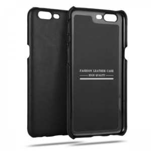 Retro Ultra-thin Real Leather Back Cover Genuine leather Protective Shell for OnePlus 5 - Black