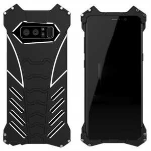 R-just Aluminum Alloy Metal Shockproof Case For Samsung Galaxy Note 8 - Black