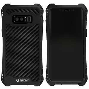 R-just Powerful Shockproof Dirt Proof Metal Aluminum Case for Samsung Galaxy Note 8 - Black