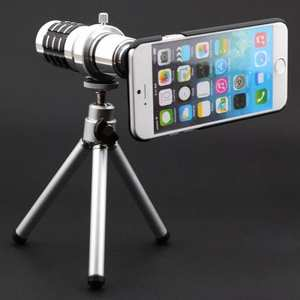 12X Zoom Telescope Camera Telephoto Lens+Tripod+Back Case Cover For iPhone 8 4.7inch