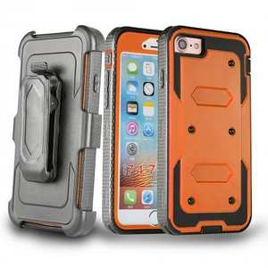 Belt Clip Holster Combo Shockproof Dual Layer Protective Case for iPhone 8 4.7inch - Orange