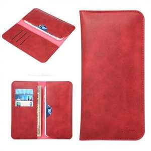 Crazy Horse PU Leather Flip Bag Pouch Wallet Case for iPhone 8 Plus 5.5 Inch - Red