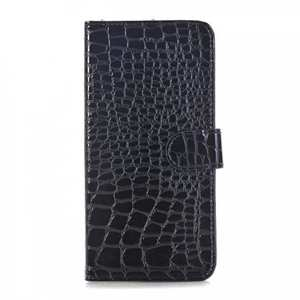 Crocodile Pattern PU Leather Stand Case with Card Slots For iPhone 8 Plus 5.5 inch - Black