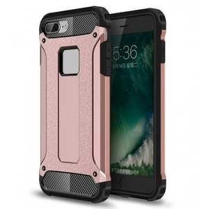 Dustproof Dual-layer Hybrid Armor Protective Case For Apple iPhone 8 Plus 5.5inch - Rose gold