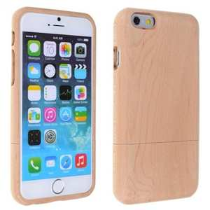 Genuine Natural Cherry Wood Wooden Hard Case Cover for iPhone 8 4.7 inch