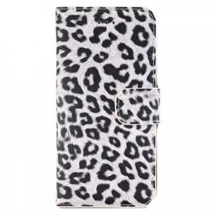 Leopard Pattern Magnetic Pu Leather Wallet Stand Case for iPhone 8 4.7 inch - White