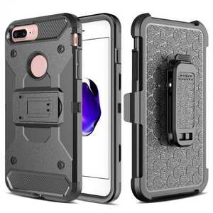 NEW Belt Clip Holster Hybrid Armor Kickstand Protective Cover Case For iPhone 8 Plus 5.5inch