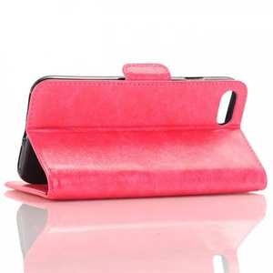 Oil Buffed Textured Wallet Leather Flip Case w/ Stand for iPhone 8 4.7 inch - Rose