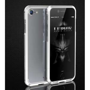 Shockproof Aluminum Metal Frame Bumper Case for Apple iPhone 8 - Silver