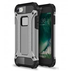 Shockproof Dual-layer Armor Hybrid Protective Case for Apple iPhone 8 4.7inch - Gray