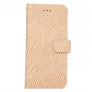 Zebra Pattern Leather Wallet Magnetic Flip Stand Case for iPhone 8 4.7 inch - Brown