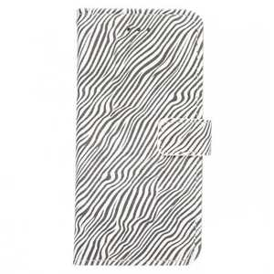 Zebra Pattern Leather Wallet Magnetic Flip Stand Case for iPhone 8 4.7 inch - White