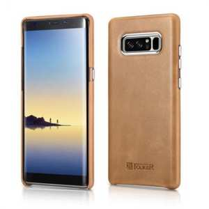 ICARER Genuine Real Leather Back Case Cover For Samsung Galaxy Note 8 - Khaki