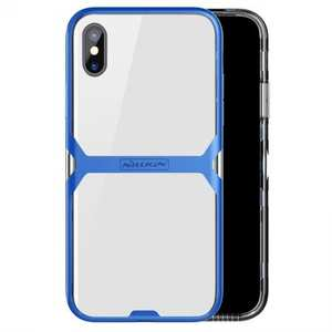 Nillkin Crystal Bumper Protection Case Flexible TPU Cover for Apple iPhone X - Blue