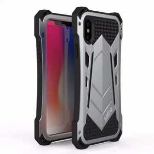 R-JUST Armor Aluminum Waterproof Shockproof Case for iPhone XS / X - Silver