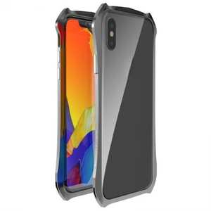 Shockproof Aluminium Metal Bumper Case for iPhone XS / X - Grey