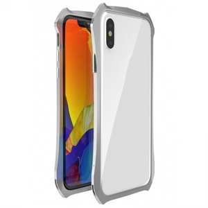 Shockproof Aluminium Metal Bumper Case for iPhone XS / X - Silver