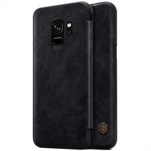 Nillkin Flip Leather Card Slot Case Cover For Samsung Galaxy S9 - Black