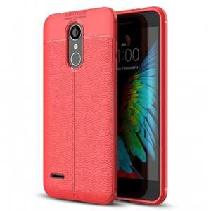 For LG Tribute Dynasty / Aristo 2 / LV3 2018 Shockproof Leather Design Soft TPU Case Cover - Red