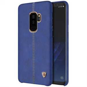 NILLKIN Englon Series Leather Back Case Cover for Samsung Galaxy S9+ - Blue