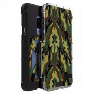 R-JUST Aluminum Metal Shockproof Full Cover Case For Samsung Galaxy S9 Plus - Camouflage