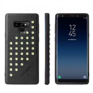 For Samsung Galaxy Note 9 Ultra-thin Star Soft TPU Leather Back Cover Case - Black