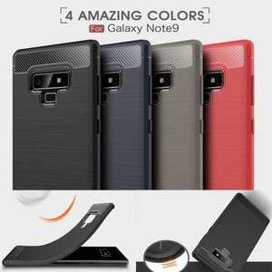 For Samsung Note 9 Shockproof Carbon Fiber Soft TPU Rubber Case Cover