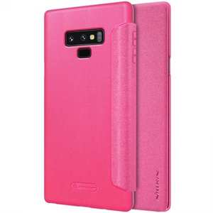Nillkin Sparkle Series PU Leather Flip Phone Case for Samsung Galaxy Note 9 - Rose Red