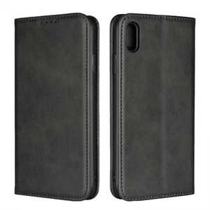 For iPhone XS Max Leather Flip Magnetic Wallet Card Stand Case Cover - Black