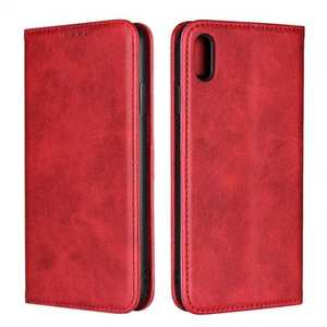 For iPhone XS Max Leather Flip Magnetic Wallet Card Stand Case Cover - Red