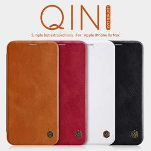 For iPhone XS Max Nillkin Qin Slim Matte Card Slot Wallet Flip Leather Cover Case