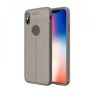 For iPhone XS Max Flexible TPU Slim Protective Back Cover Case - Grey
