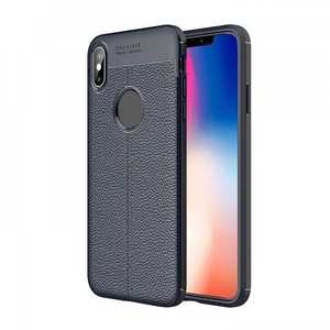 For iPhone XS Max Flexible TPU Slim Protective Back Cover Case - Navy Blue