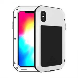 Waterproof Shockproof Metal Aluminum Gorilla Case for iPhone XS Max - White