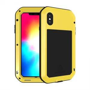 Waterproof Shockproof Metal Aluminum Gorilla Case for iPhone XS Max - Yellow