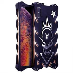 For iPhone XS Max Luxury Aluminum Metal Shockproof Case Cover - Black