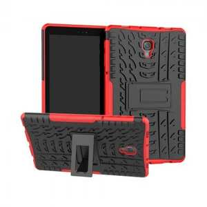Dual Layer Protection Shockproof Cover Hybrid Rugged Case with Kickstand for Samsung Galaxy Tab A 10.5 [SM-T590/SM-T595] - Red