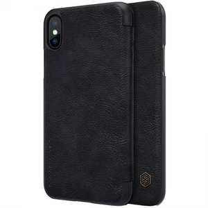 Nillkin Qin Series Flip Leather Card Slot Case Cover For iPhone XS - Black