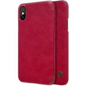 Nillkin Qin Series Flip Leather Card Slot Case Cover For iPhone XS - Red