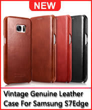 ICARER Classic Vintage Genuine Leather for Samsung Galaxy S7Edge