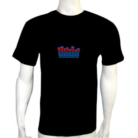 HZ Flash LED DJ Music Activated Equalizer EL T-shirt
