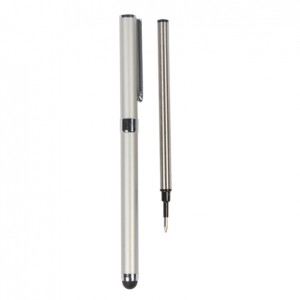 Dual Functional Writing and Screen Touch Stylus for iPad 1,iPad 2 and The New iPad - Silver + An Extra Writing Pen Core