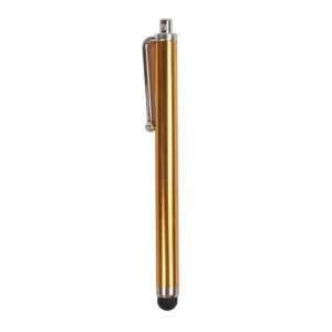 Penholder Style LCD Screen Touch Stylus for iPhone,iPad 1,iPad 2 and The New iPad - Gold