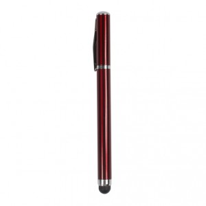 Dual Functional Writing and Screen Touch Stylus for iPad,iPhone,iPod and The New iPad - Red + An Extra Writing Pen Core