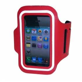 Sport Armband Arm Strap Cover Case Holder For iPhone 5 - Red