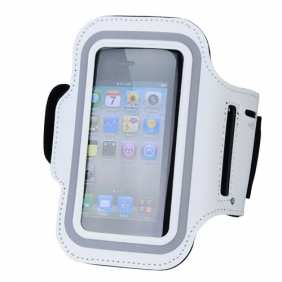 Sport Armband Arm Strap Cover Case Holder For iPhone 5 - White