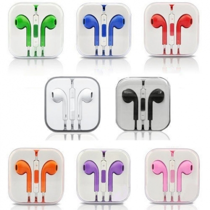 New fashion Headphone Earplug For iPhone 5 4 4S iPad iPod Headphones Remote Mic