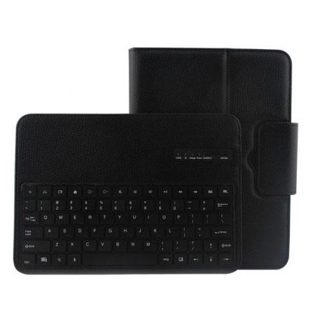 Detachable Bluetooth Keyboard + Flip Stand Leather Case For Samsung Galaxy Tab 3 10.1 P5200 P5210 - Black