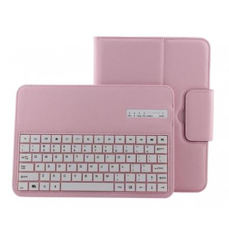 Detachable Bluetooth Keyboard + Flip Stand Leather Case For Samsung Galaxy Tab 3 10.1 P5200 P5210 - Pink
